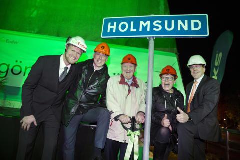Två viktiga steg mot hållbarhet: Kommunalråden tog spadtag och grön pilotanläggning invigdes
