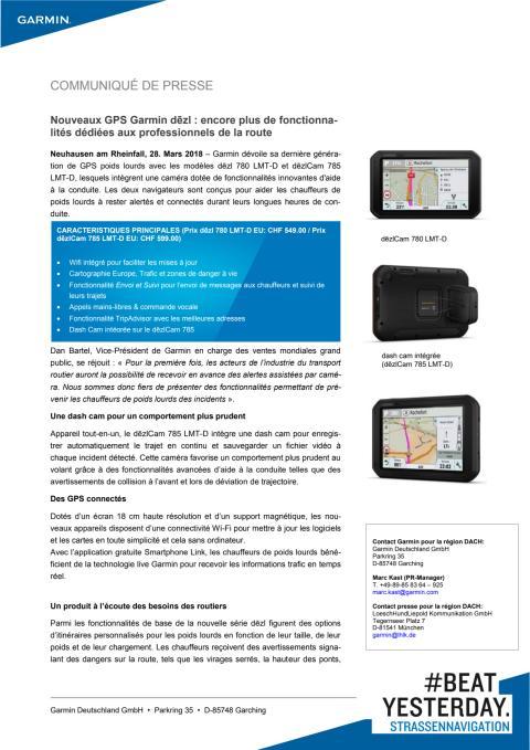 Nouveaux GPS Garmin dēzl : encore plus de fonctionnalités dédiées aux professionnels de la route