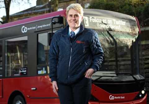 Pamela Young, a Go North East bus driver