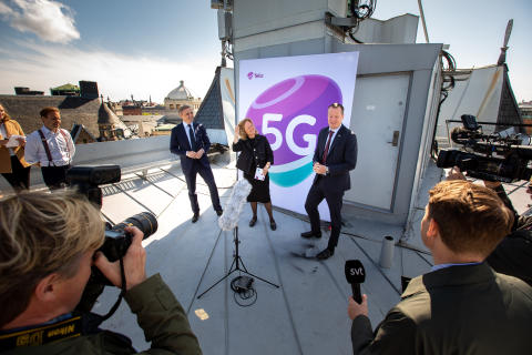 Telias första stora 5G-nät i Stockholm är igång