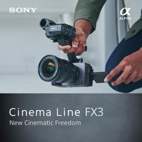 Sony lance le FX3 : une caméra compacte plein format orienté film