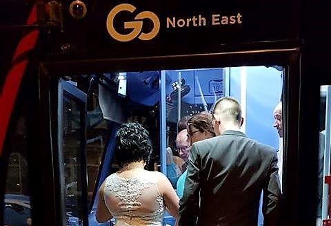 Go North East transports local couple to married life