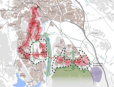 Karta över Uppsalapaketet