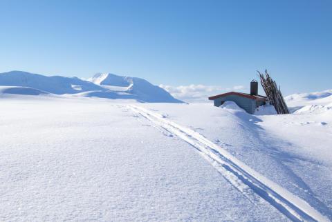 Is og snøforhold i fjellet i Nordland og Troms per 11. april 2019
