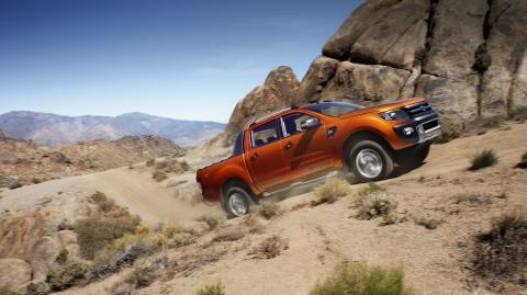 Helt nya högteknologiska Ford Ranger Wildtrak gör världsdebut i Genève