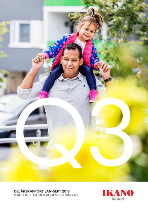 Ikano Bostad Stockholm Holding AB (publ)  Delårsrapport 1 januari-30 september 2018