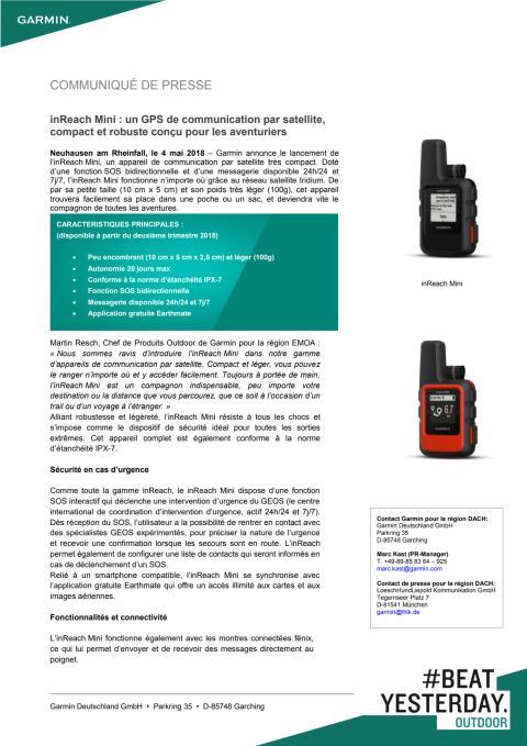 inReach Mini : un GPS de communication par satellite, compact et robuste conçu pour les aventuriers