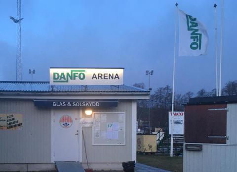 Inget övertagande av Danfo arena