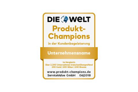 Deutschlands Produkt-Champions ausgezeichnet