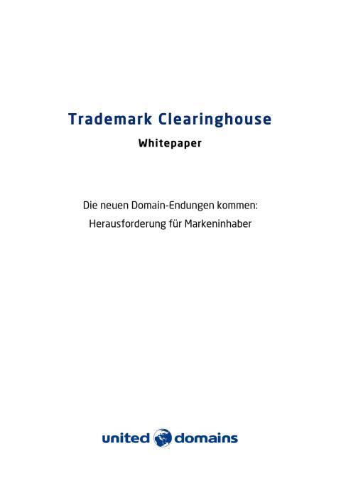 Whitepaper zum Trademark Clearinghouse