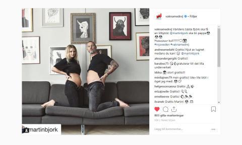 Martin Björk från Vakna med NRJ ska bli pappa