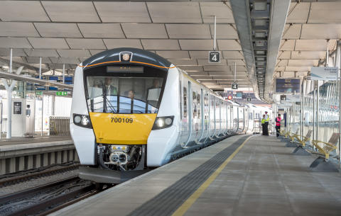 New Thameslink train at Blackfriars