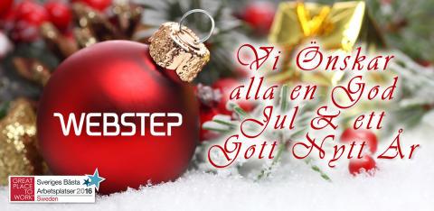 God Jul önskar vi på Webstep
