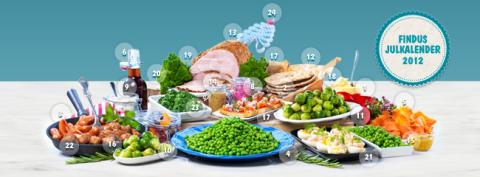 Findus julkalender 2012 kombinerar konsumenttävling med goda recept och jultips