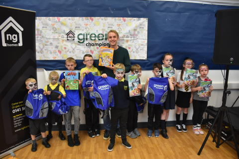 Springburn's Young Green Champions launch Climate Challenge Comic Book