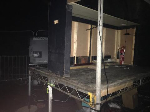 DJ Set up in Tunnel