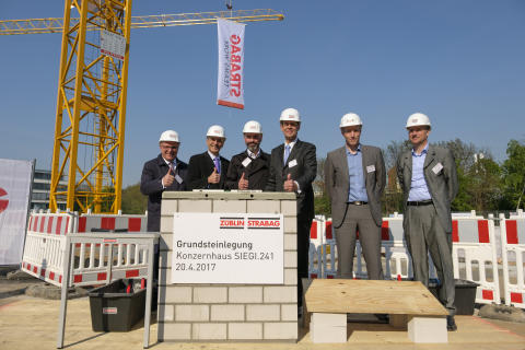 Cornerstone laying STRABAG head office, Cologne
