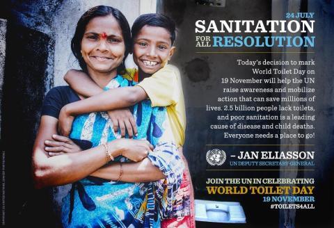 FN lyfter Världstoalettdagen