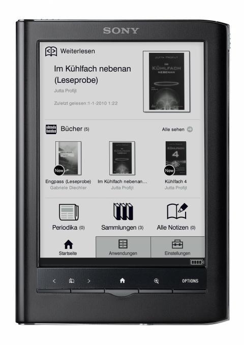Reader Touch Edition PRS-650 von Sony schwarz
