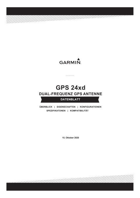 Datenblatt Garmin GPS 24xd