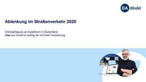 """Studienbericht zur DA Direkt Ablenkungsstudie 2020: Gefahrenpotenzial """"Ablenkung"""" - Fahrassistenten sorgen für trügerische Sicherheit"""