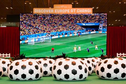Football fever takes off this season at Changi Airport