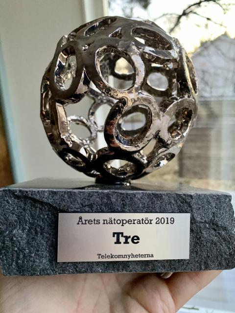 Tre utsedd till Årets Nätoperatör vid Telekomgalan