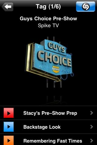 "Spike TV Makes ""Guys Choice"" First Shazamable Awards Program!"