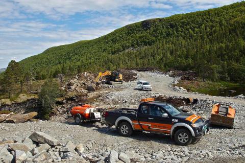 Bygging av adkomstvei til Roan vindpark, juni 2016