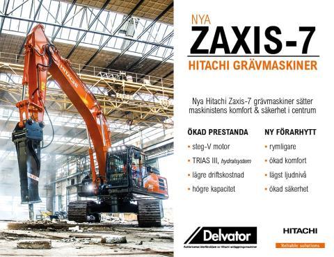 Världspremiär Hitachi Zaxis-7 serien