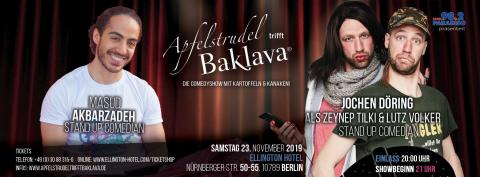 APFELSTRUDEL TRIFFT BAKLAVA - Premiere im ELLINGTON HOTEL BERLIN