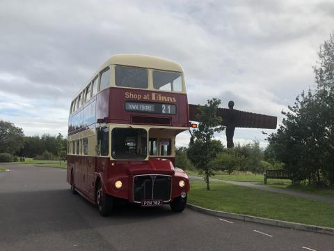 Extra buses, including a classic 1964 Northern General Routemaster, deployed to keep people moving as schools return