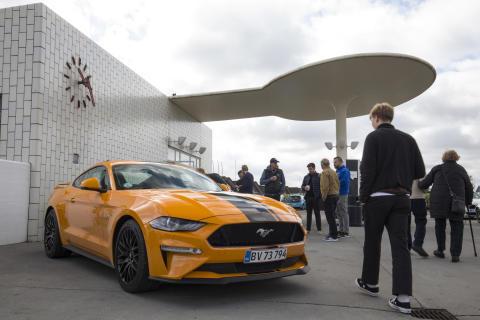 Ford Mustang på besøg til Supercar Sunday