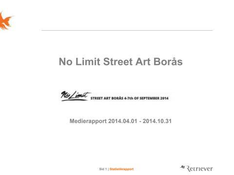 Mediegenomslag No Limit Street Art Borås