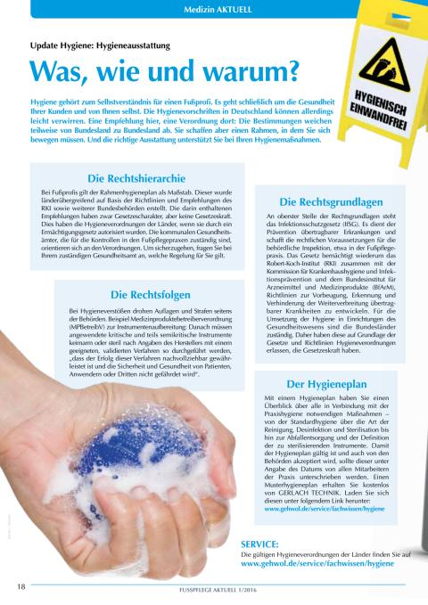 Update Hygiene: Hygieneausstattung - Was, wie und warum?