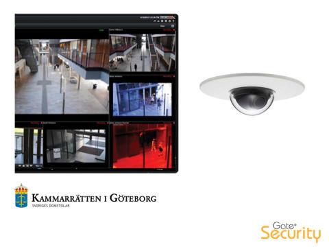 Kammarrätten i Göteborg väljer Gate Security för kameraövervakning