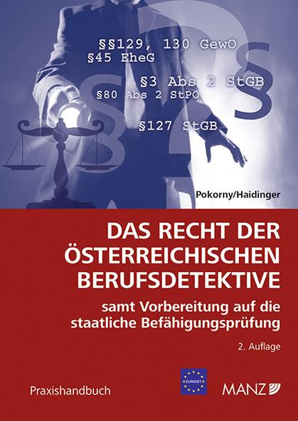 Neu bei MANZ: Das Recht der österreichischen Berufsdetektive