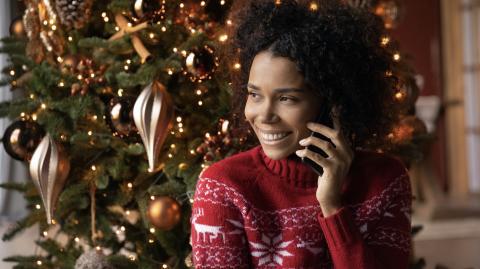 Årets jul firades med många och långa mobilsamtal