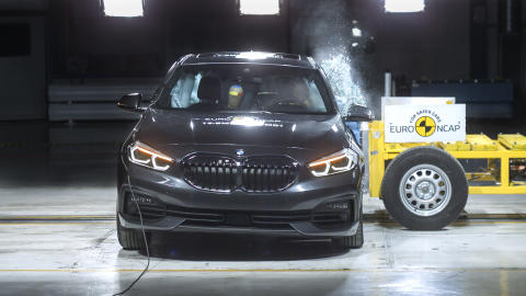 BMW 1 Series side crash test October 2019