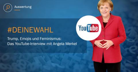 Trump, Emojis und Feminismus:  Unsere Analyse zum  YouTube-Interview mit Angela Merkel