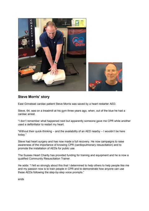 Steve Morris, cardiac patient - case study