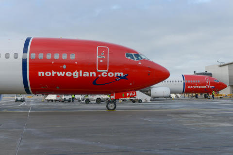 Norwegian 737-800 aircraft at Gatwick