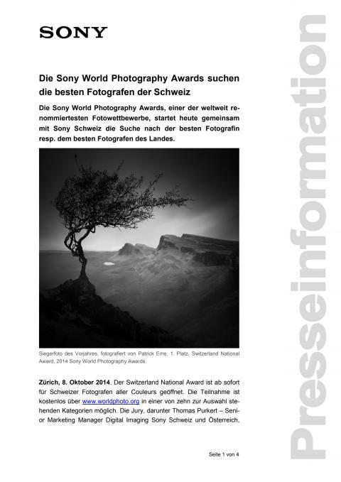 Medienmitteilung_SWPA National Awards Switzerland_D-CH_141008