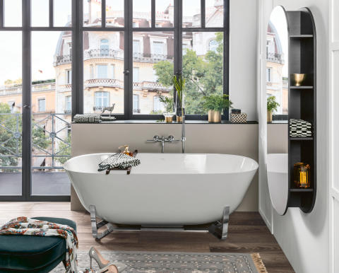 Pouvoir se décontracter quelle que soit la configuration de la pièce : c'est possible avec la baignoire parfaite