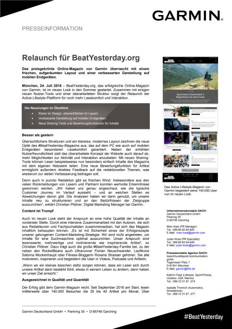 Relaunch für BeatYesterday.org