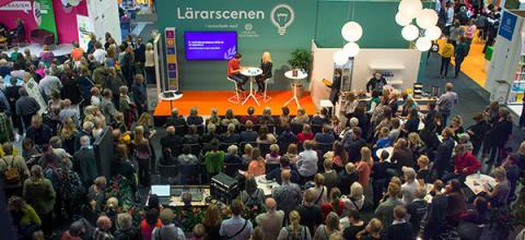 Den populära Lärarscenen på Bokmässan 2018.