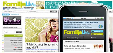 Succé direkt för Familjelivs mobilsajt
