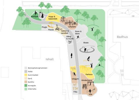 Betonmast Anläggning bygger den nya aktivitetsparken i Kungsbacka