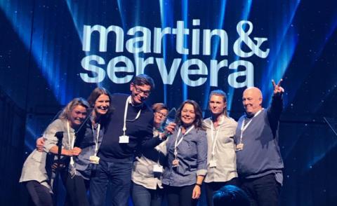 Martin & Servera Årets Leverantör Mat & Dryck hos Nordic Choice Hotels