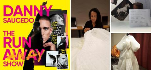 Nordiska Textilakademins samarbete med NA-KD i Danny Saucedos kritikerrosade show